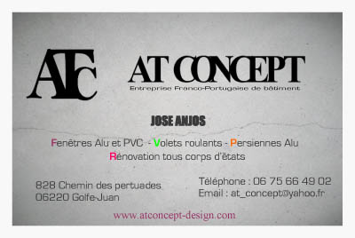 AT Concept Golfe Juan Carteq De Visite